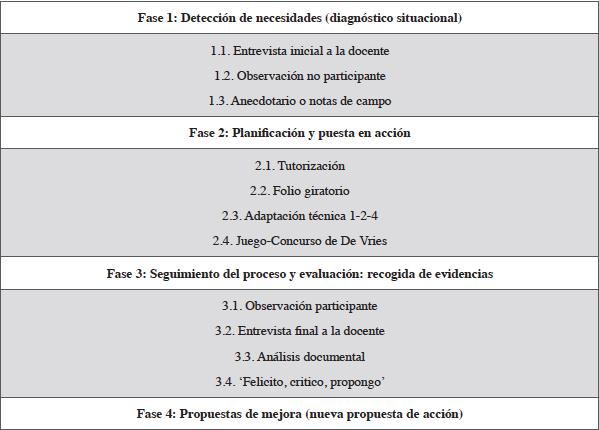 Resumen del proceso de investigación-acción realizado